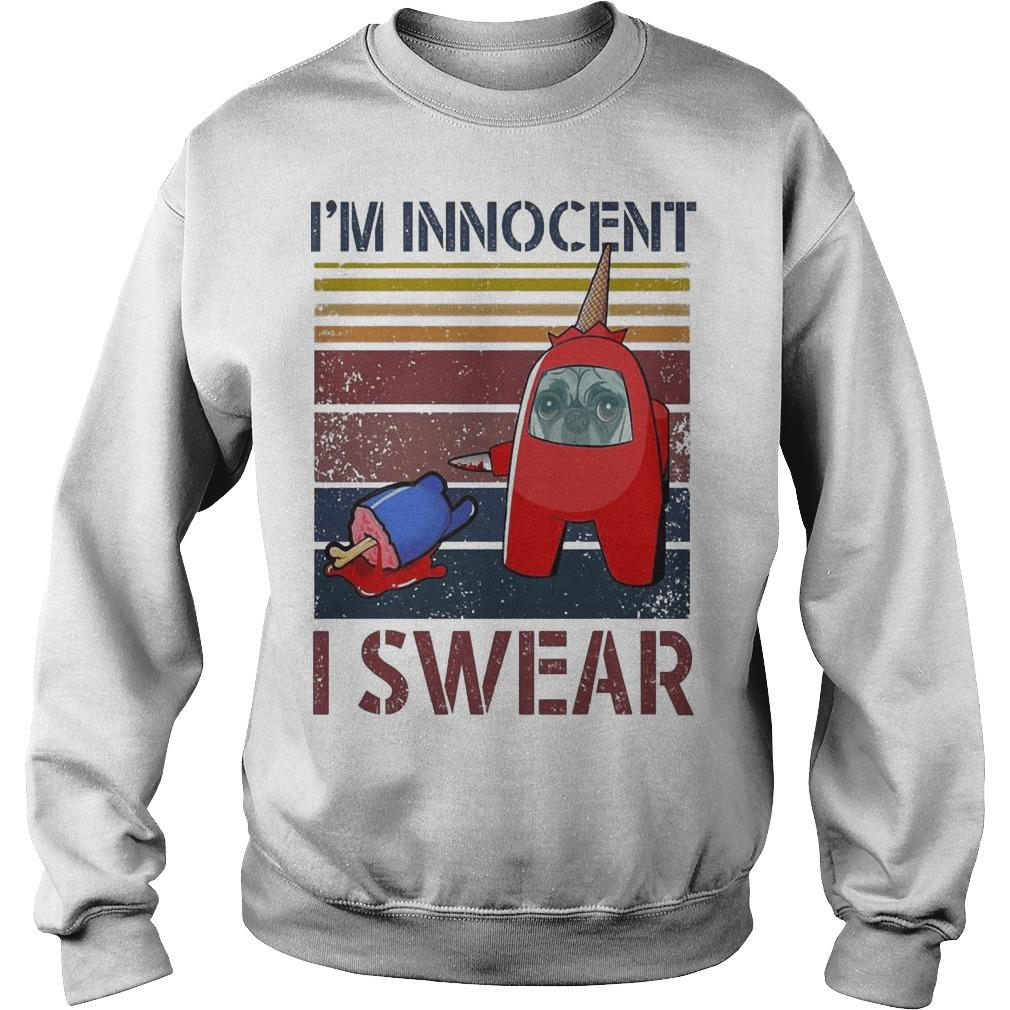 Vintage Among Us Pug I'm Innocent I Swear Sweater