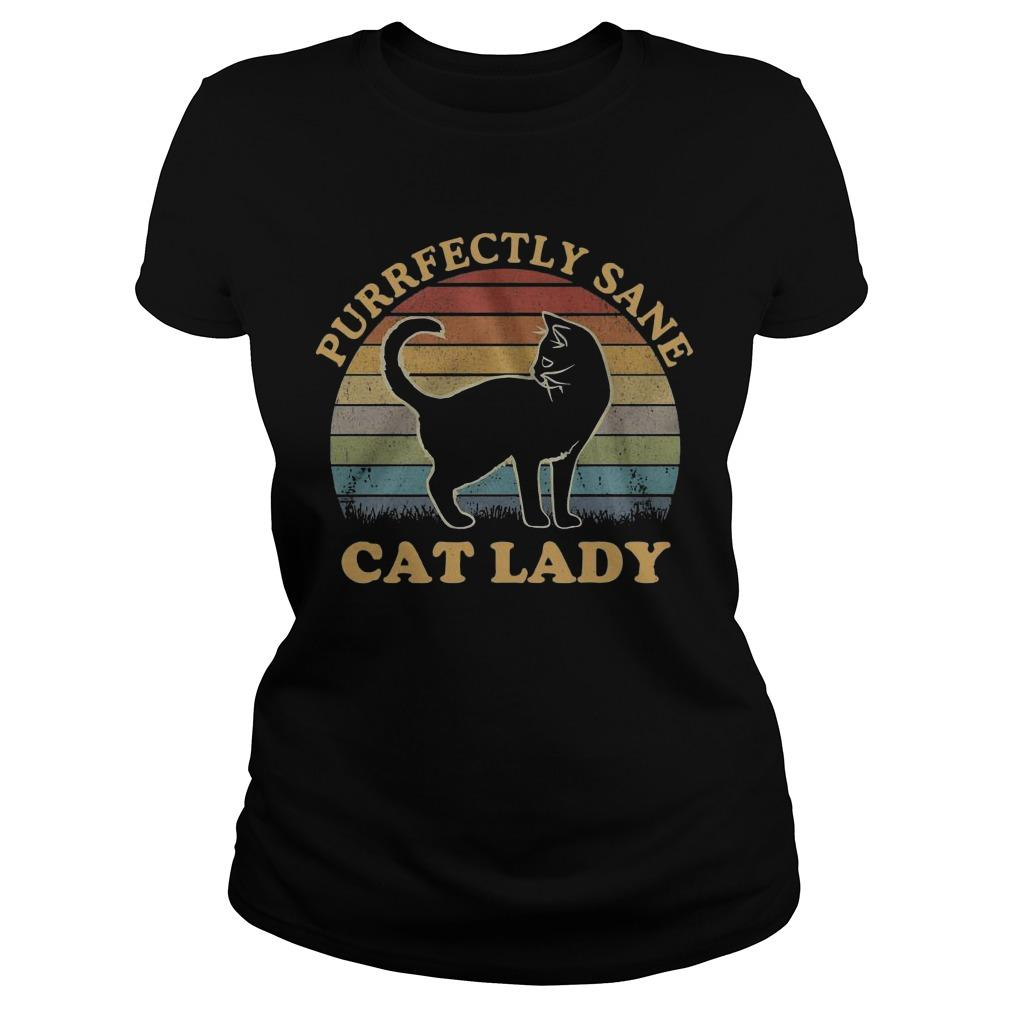 Vintage Cat Lady Purfectly Sane Longsleeve