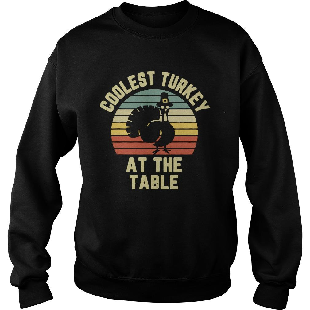 Vintage Coolest Turkey At The Table Sweater