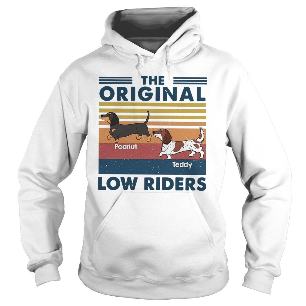 Vintage Dachshund The Original Low Riders Hoodie