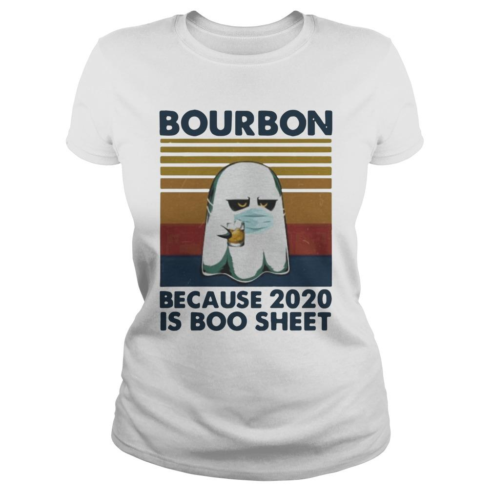 Vintage Ghost Mask Bourbon Because 2020 Is Boo Sheet Sweater