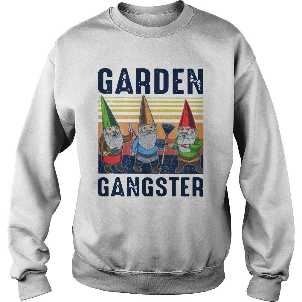 Vintage Gnomes Garden Gangster Sweater