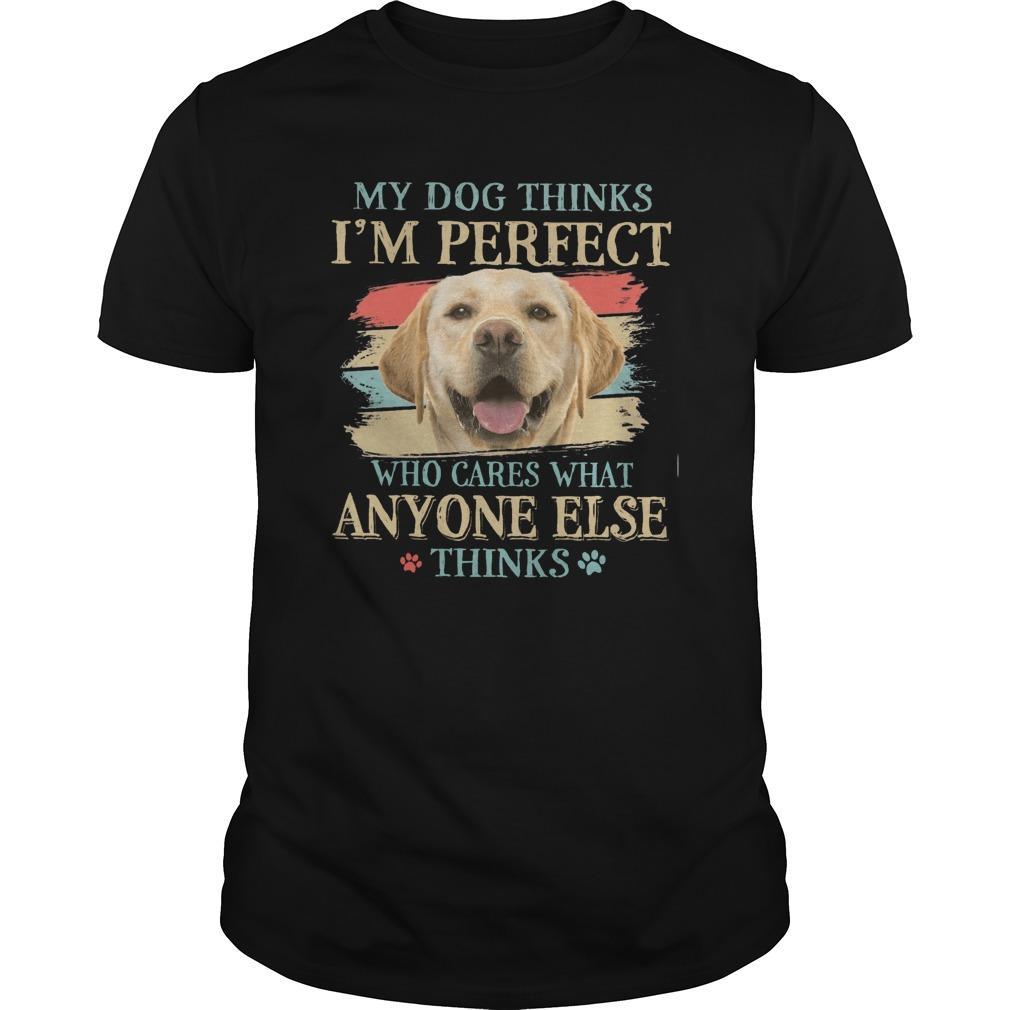 Vintage Golden My Dog Thinks I'm Perfect Who Cares What Anyone Else Thinks Longsleeve