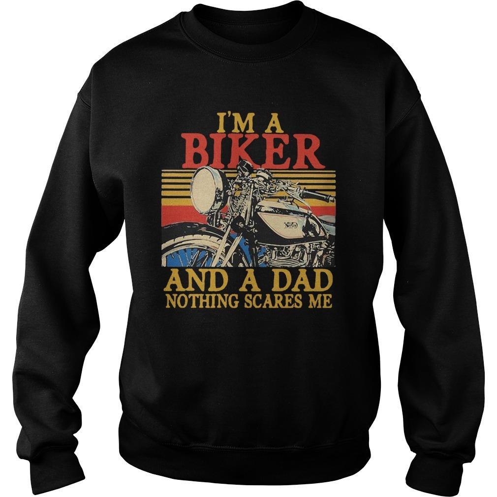 Vintage I'm A Biker And A Dad Nothing Scares Me Sweater