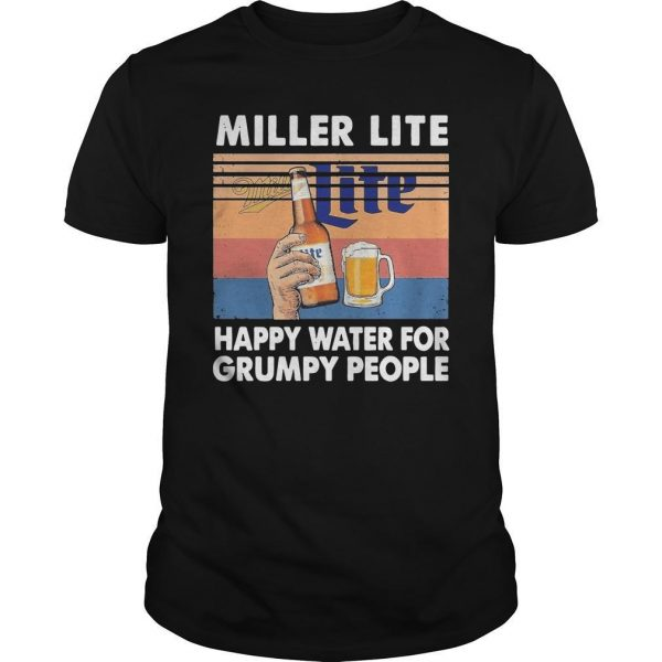 Vintage Miller Lite Happy Water For Grumpy People Shirt