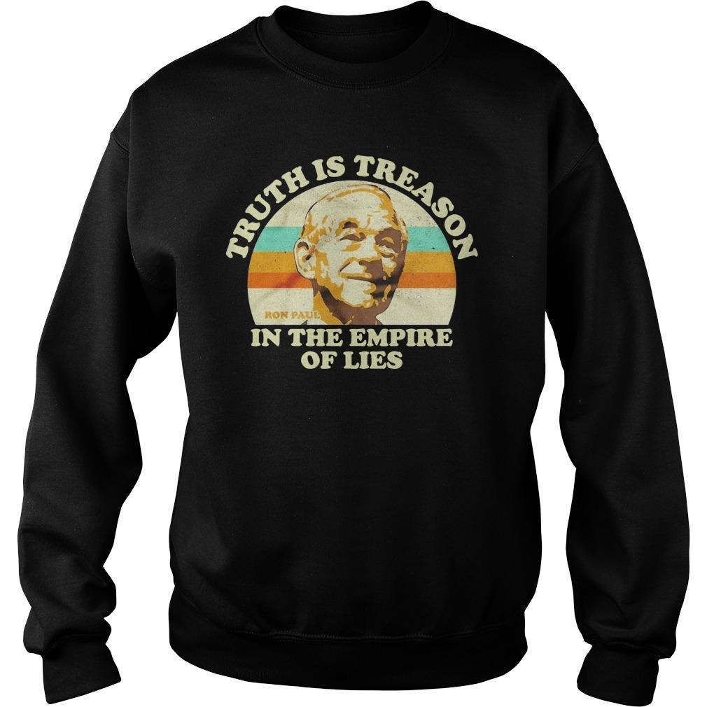 Vintage Ron Paul Truth Is Treason In The Empire Of Lies Sweater