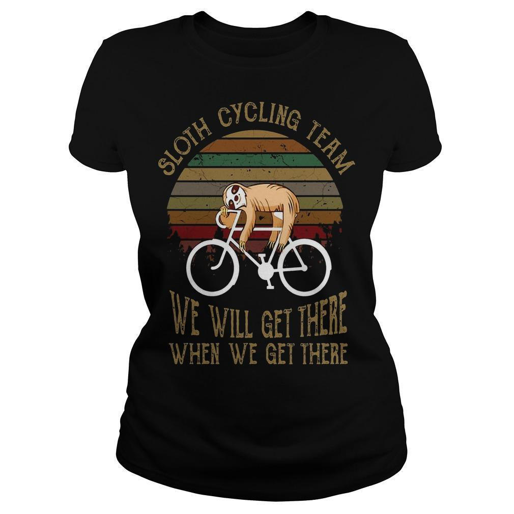 Vintage Sloth Cycling Team We Will Get There When We Get There Longsleeve