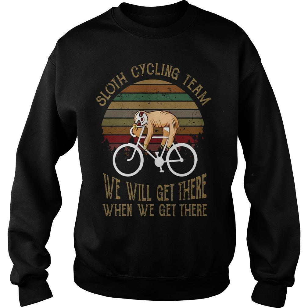 Vintage Sloth Cycling Team We Will Get There When We Get There Sweater