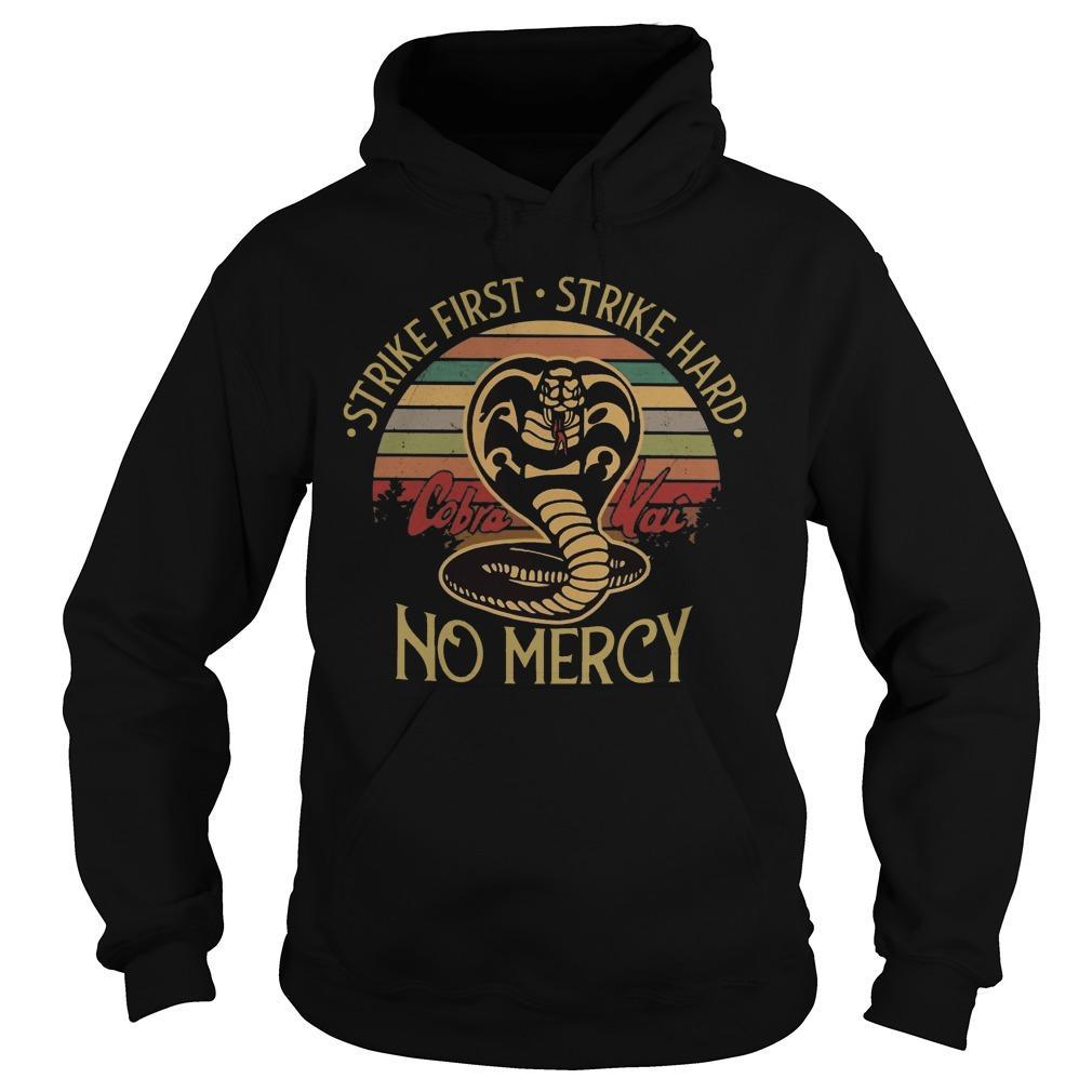 Vintage Snake Strike First Strike Hard No Mercy Hoodie