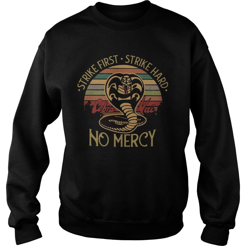 Vintage Snake Strike First Strike Hard No Mercy Sweater