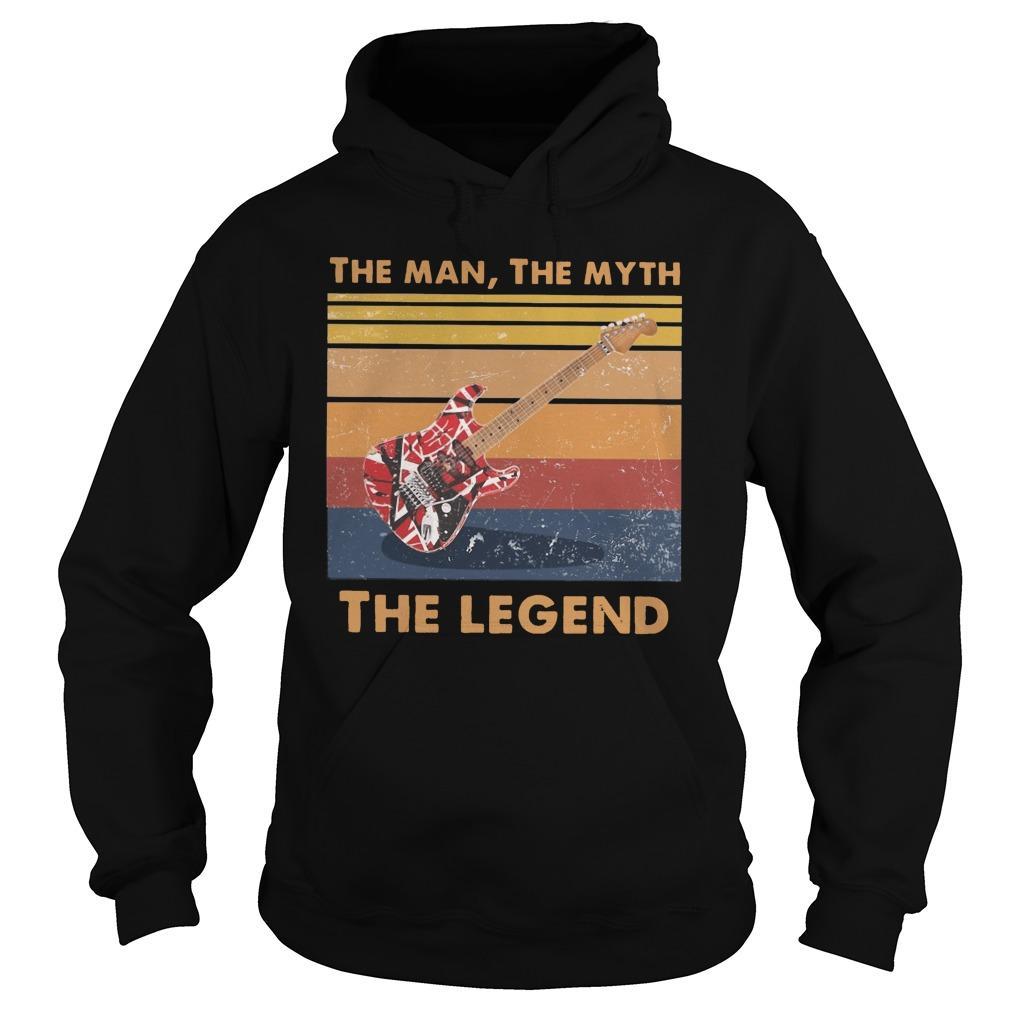 Vintage Van Halen Guitar The Man The Myth The Legend Hoodie