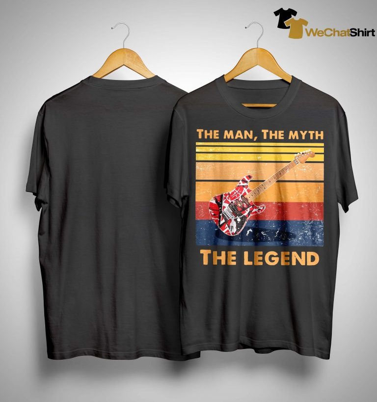 Vintage Van Halen Guitar The Man The Myth The Legend Shirt