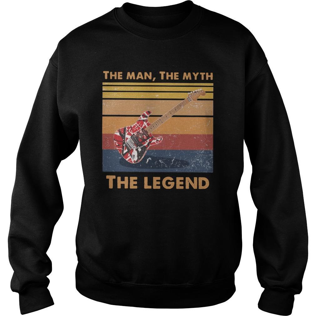 Vintage Van Halen Guitar The Man The Myth The Legend Sweater