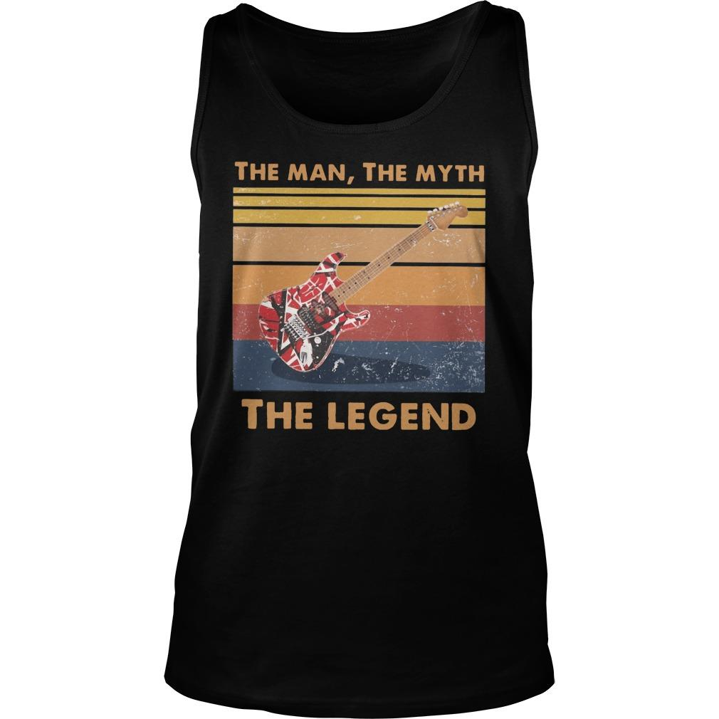 Vintage Van Halen Guitar The Man The Myth The Legend Tank Top