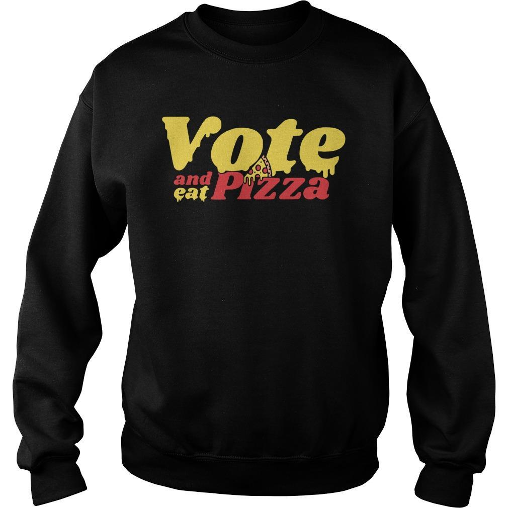 Vote And Eat Pizza Sweater
