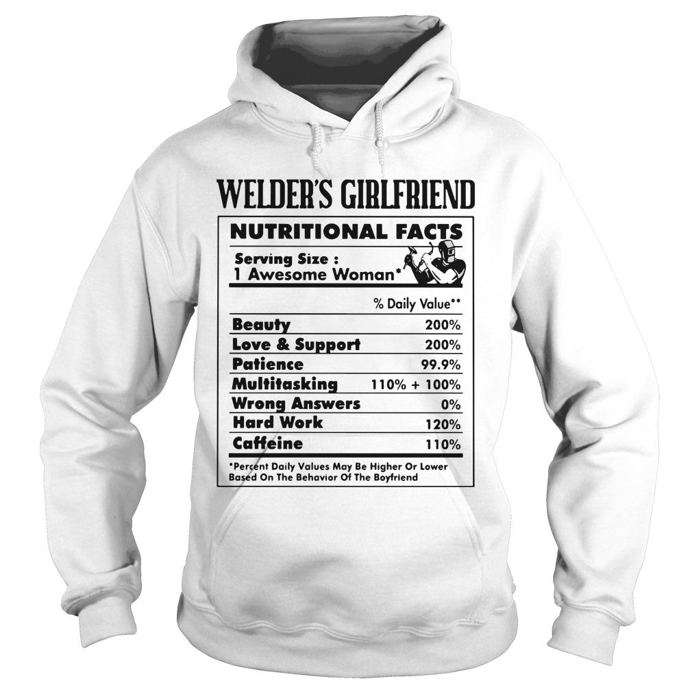 Welder's Girlfriend Nutritional Facts 1 Awesome Woman Hoodie