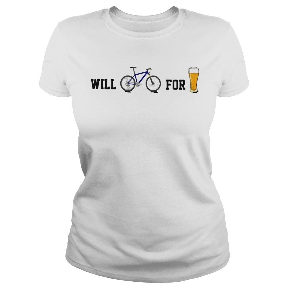 Will Bike For Beer Longsleeve