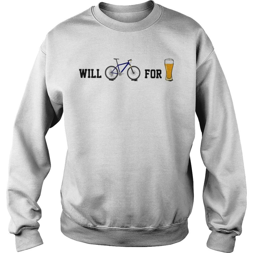 Will Bike For Beer Sweater