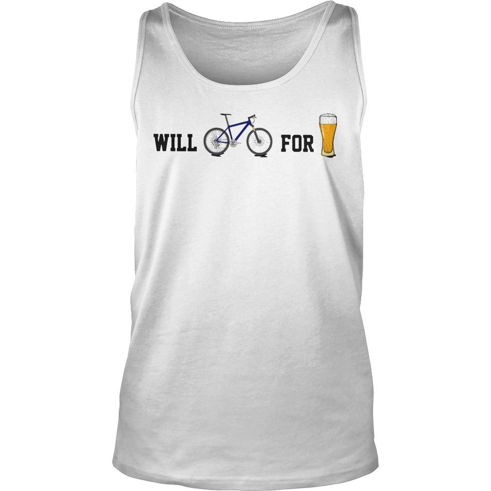 Will Bike For Beer Tank Top