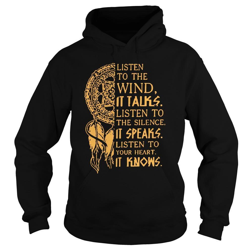 Wind Chimes Listen To The Wind It Talks Listen To The Silence It Speaks Hoodie