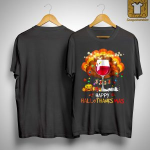 Wine Happy Hallothanksmas Shirt