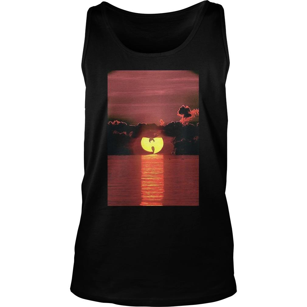 Wu Tang Clan Sunset On The Beach Tank Top