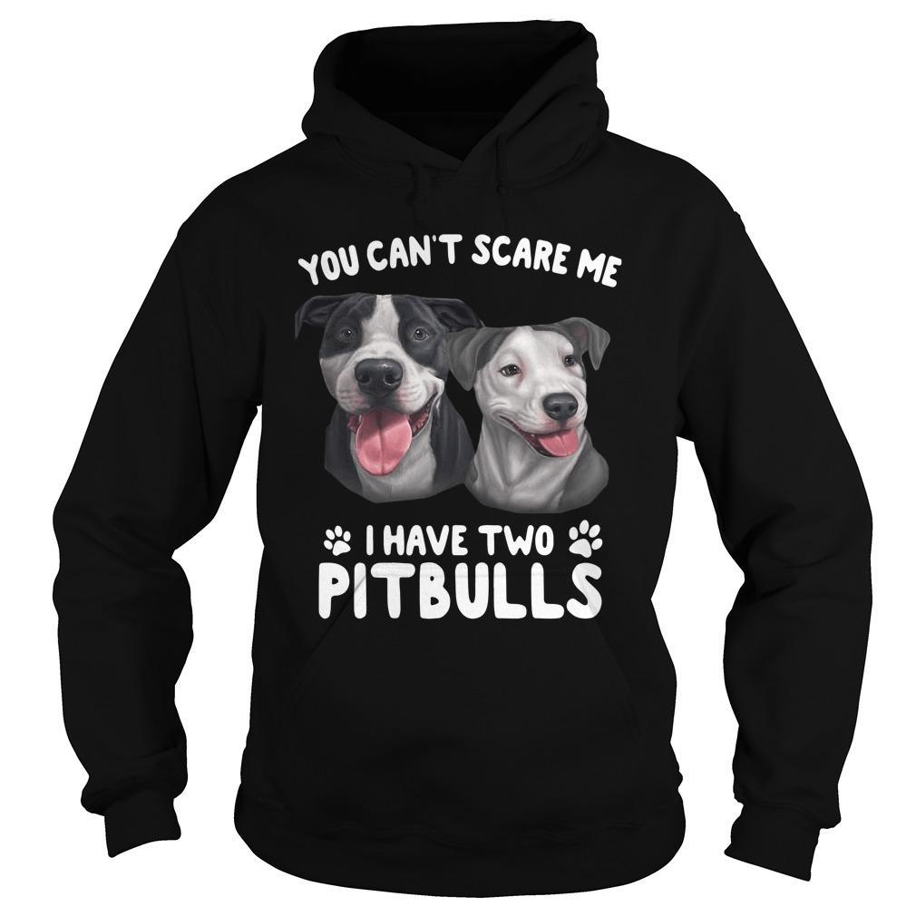 You Can't Scare Me I Have Two Pitbulls Hoodie