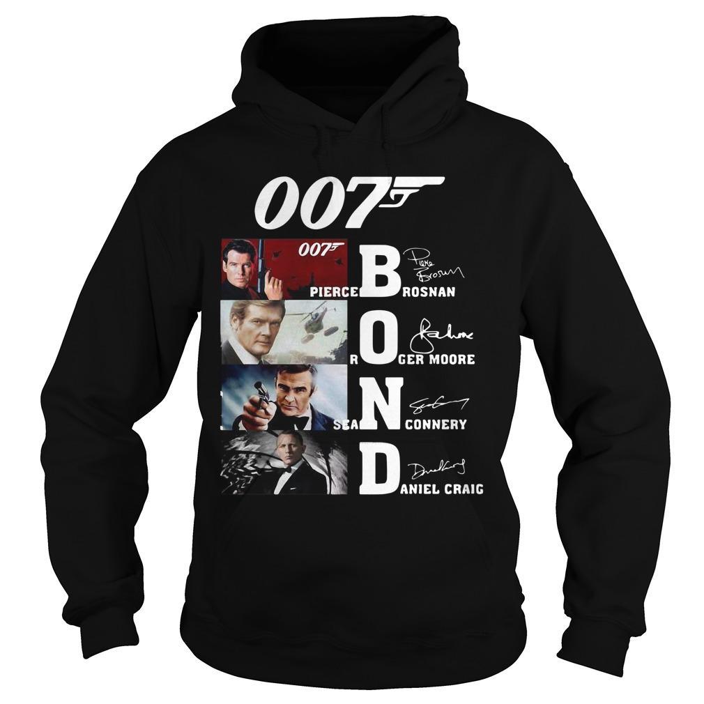 007 Pierce Brosnan Roger Moore Sean Connery Daniel Craig Hoodie