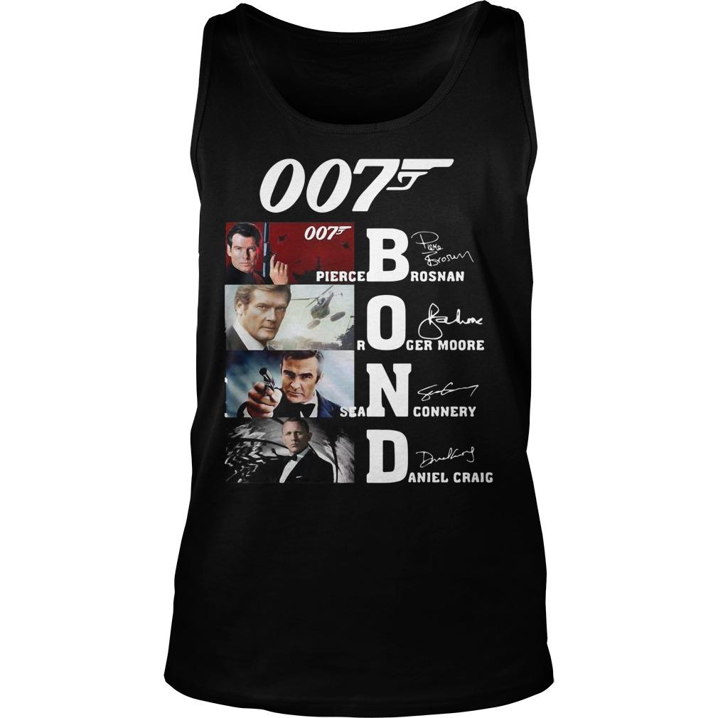 007 Pierce Brosnan Roger Moore Sean Connery Daniel Craig Tank Top