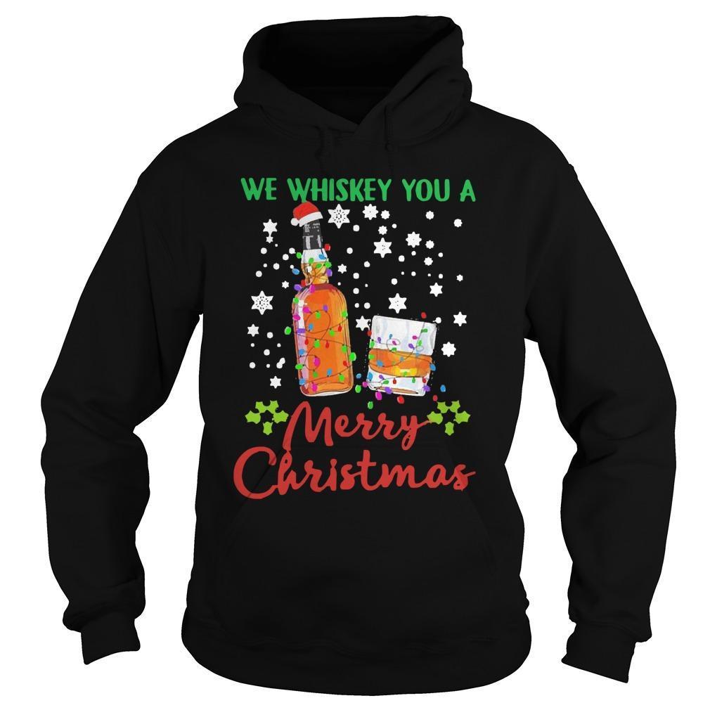 2020 We Whiskey You Merry Christmas Hoodie