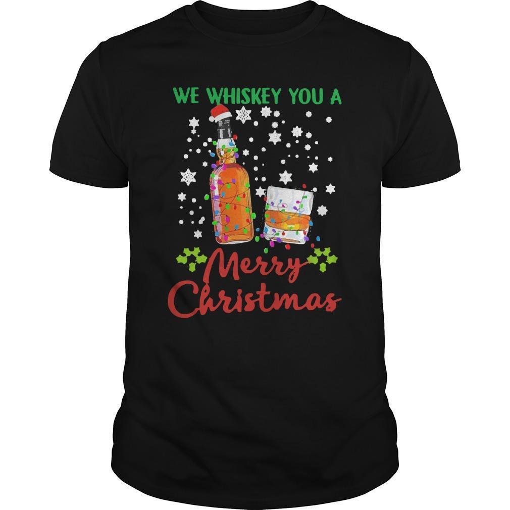 2020 We Whiskey You Merry Christmas Longsleeve