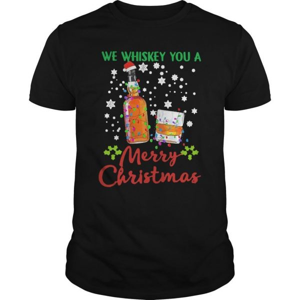 2020 We Whiskey You Merry Christmas Shirt