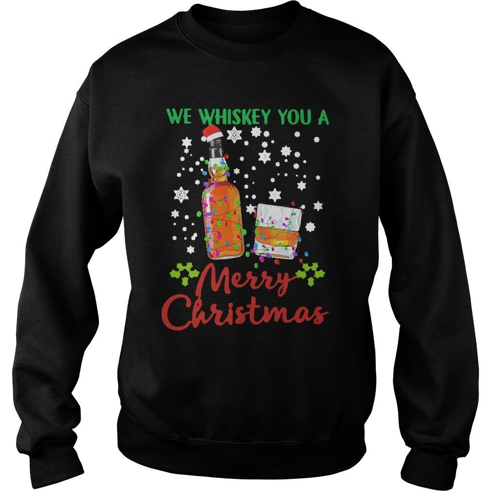 2020 We Whiskey You Merry Christmas Sweater