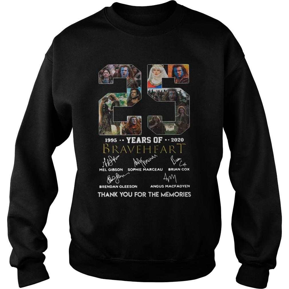 25 Years Of Braveheart 1995 2020 Thank You For The Memories Signatures Sweater