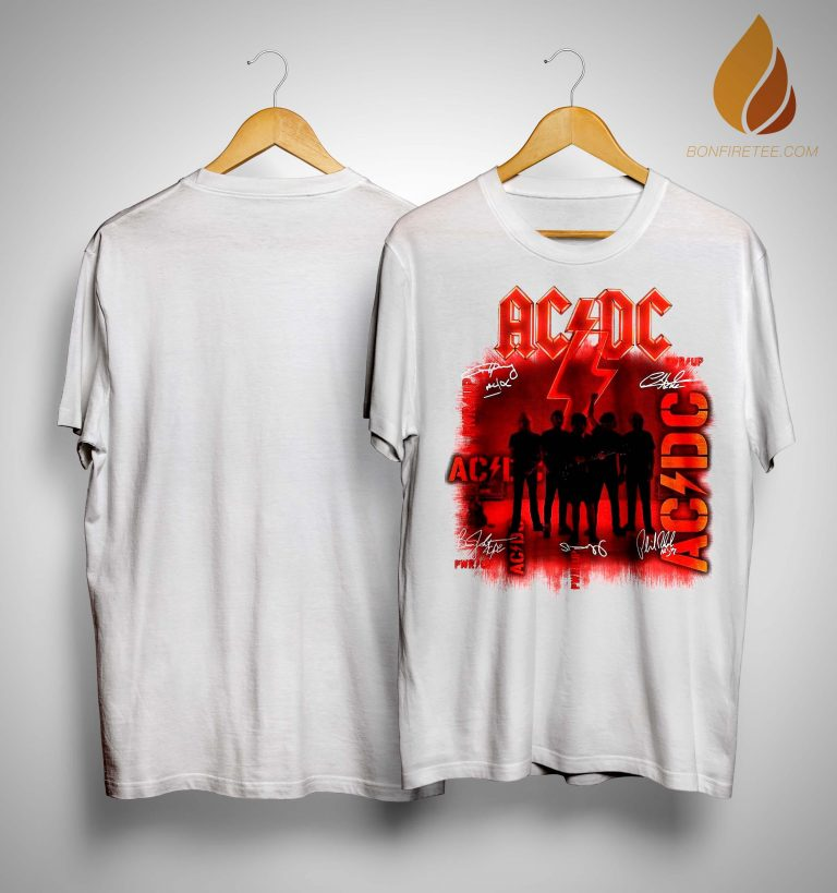 Ac Dc Signatures Power Up Shirt