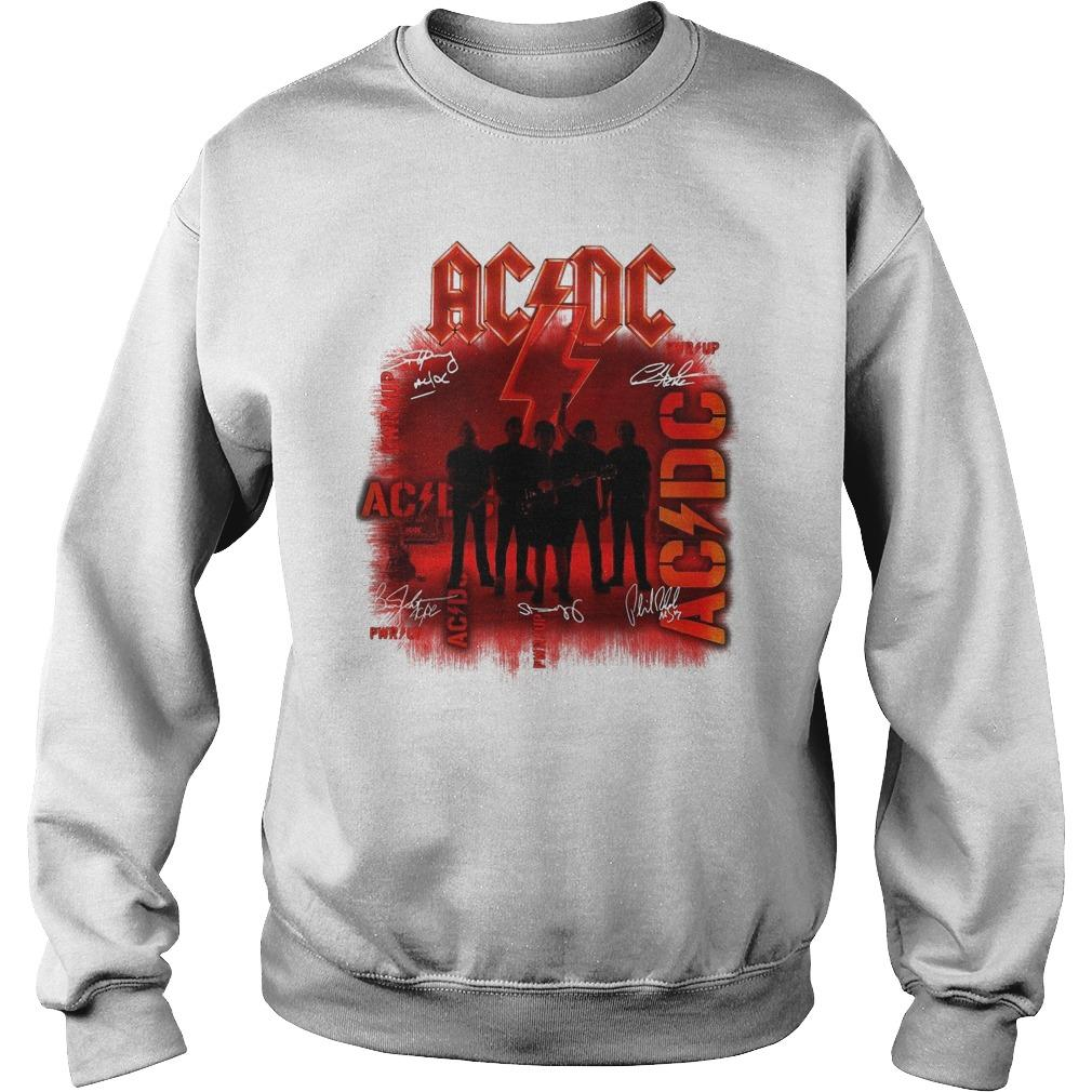 Ac Dc Signatures Power Up Sweater