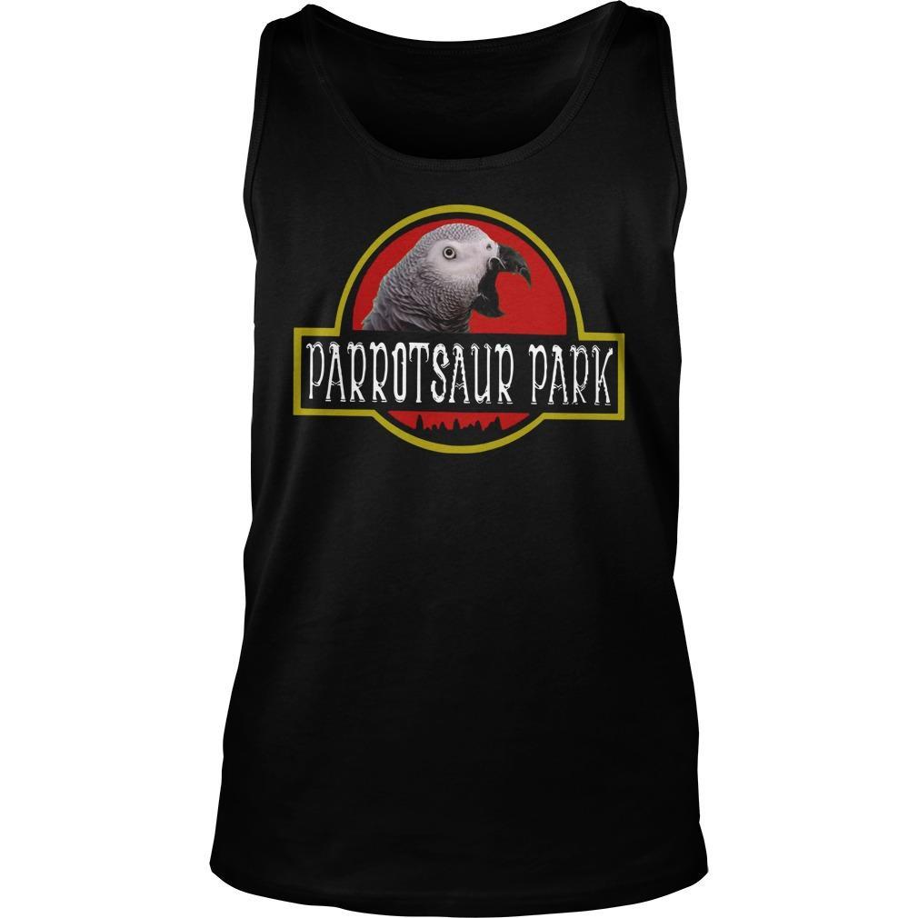 African Grey Parrotsaur Park Tank Top