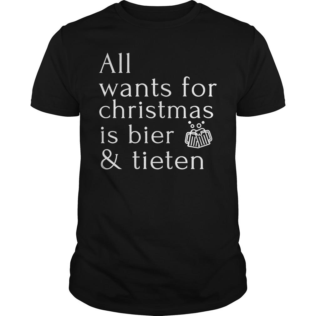All Wants For Christmas Is Bier And Tieten Longsleeve