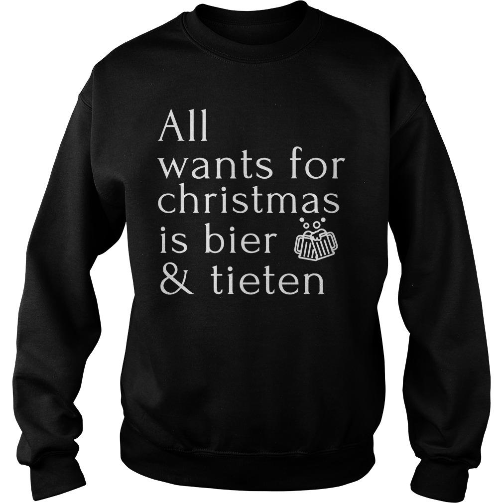 All Wants For Christmas Is Bier And Tieten Sweater