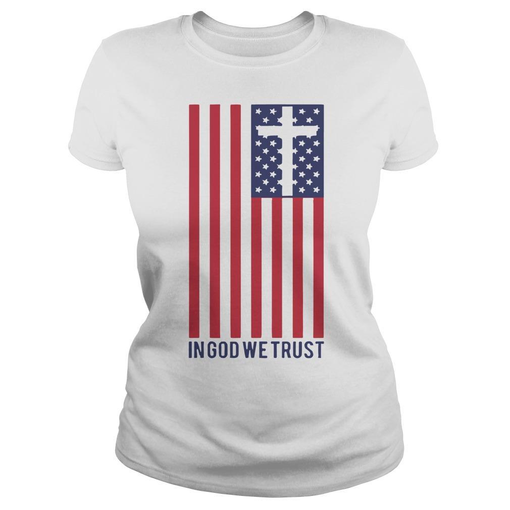 America Flag In God We Trust Longsleeve