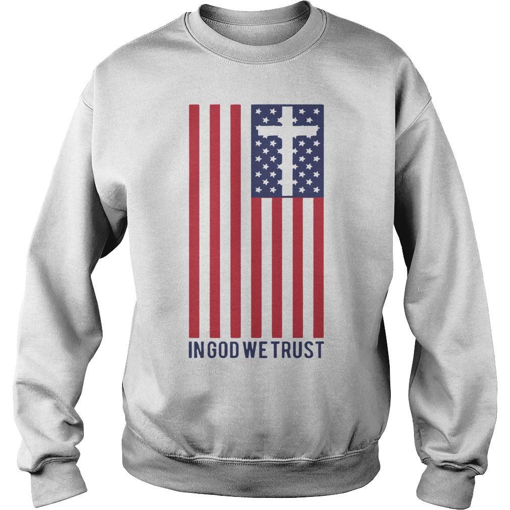 America Flag In God We Trust Sweater