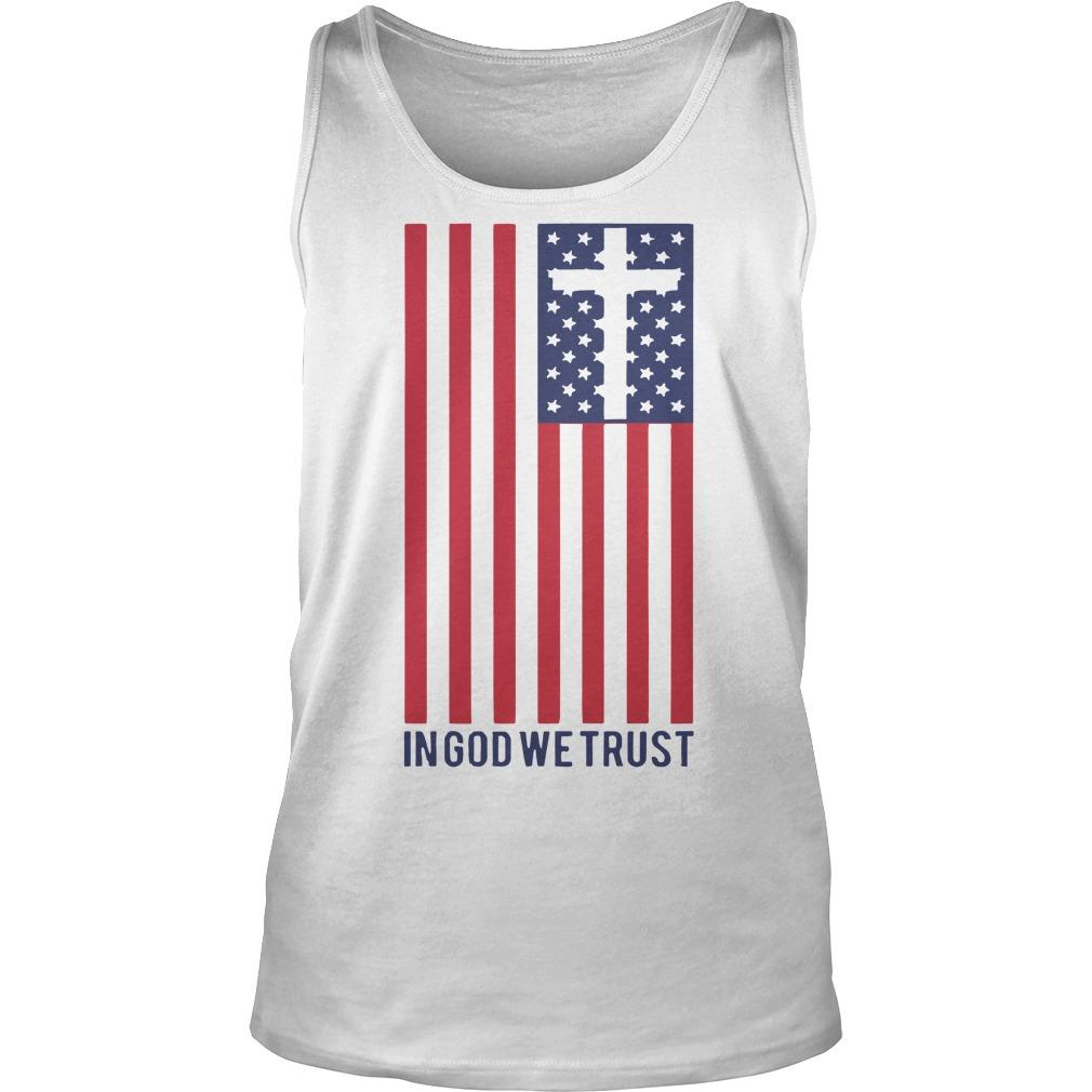 America Flag In God We Trust Tank Top