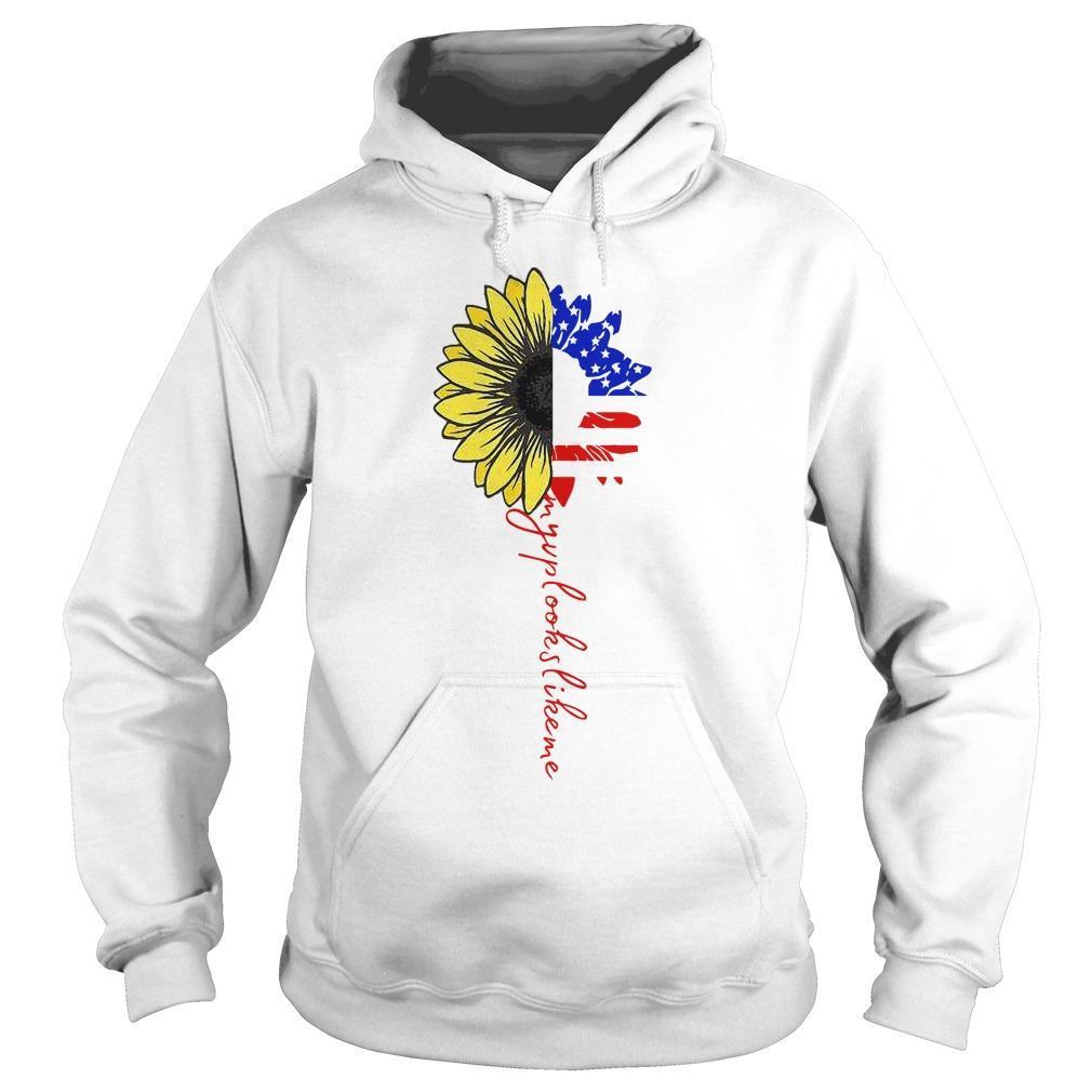 American Flag Sunflower My Vp Looks Like Me Hoodie