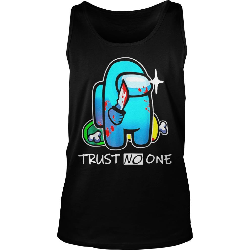 Among Us Impostor Trust No One Tank Top
