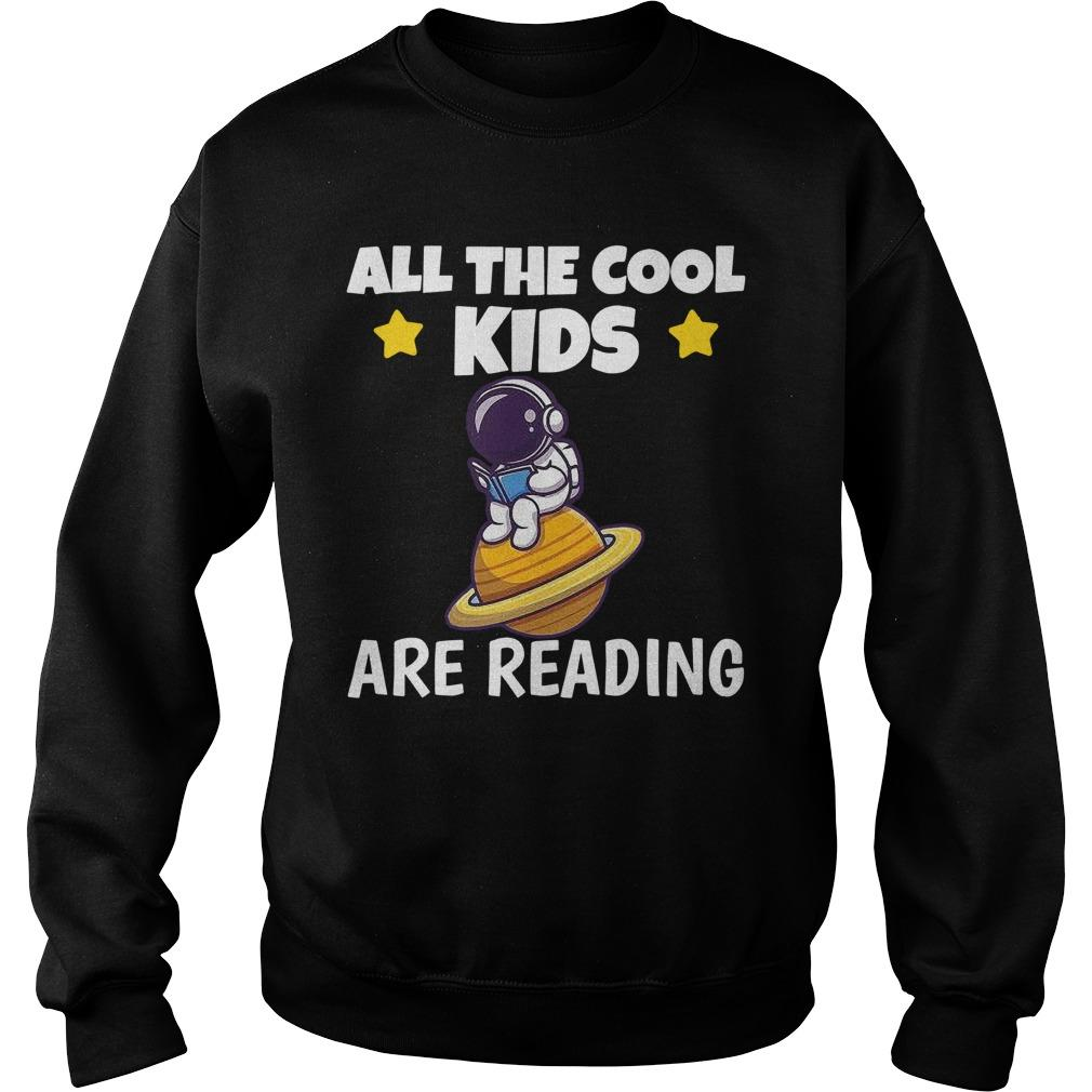 Astronaut Reading Book All The Cool Kids Are Reading Sweater