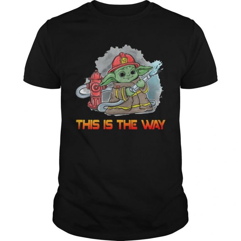 Baby Yoda Firefighter This Is The Way Shirt