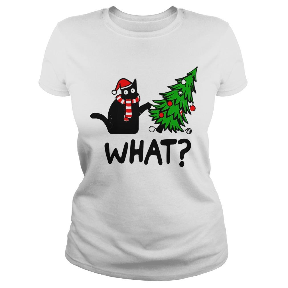 Black Cat Christmas Tree What Longsleeve