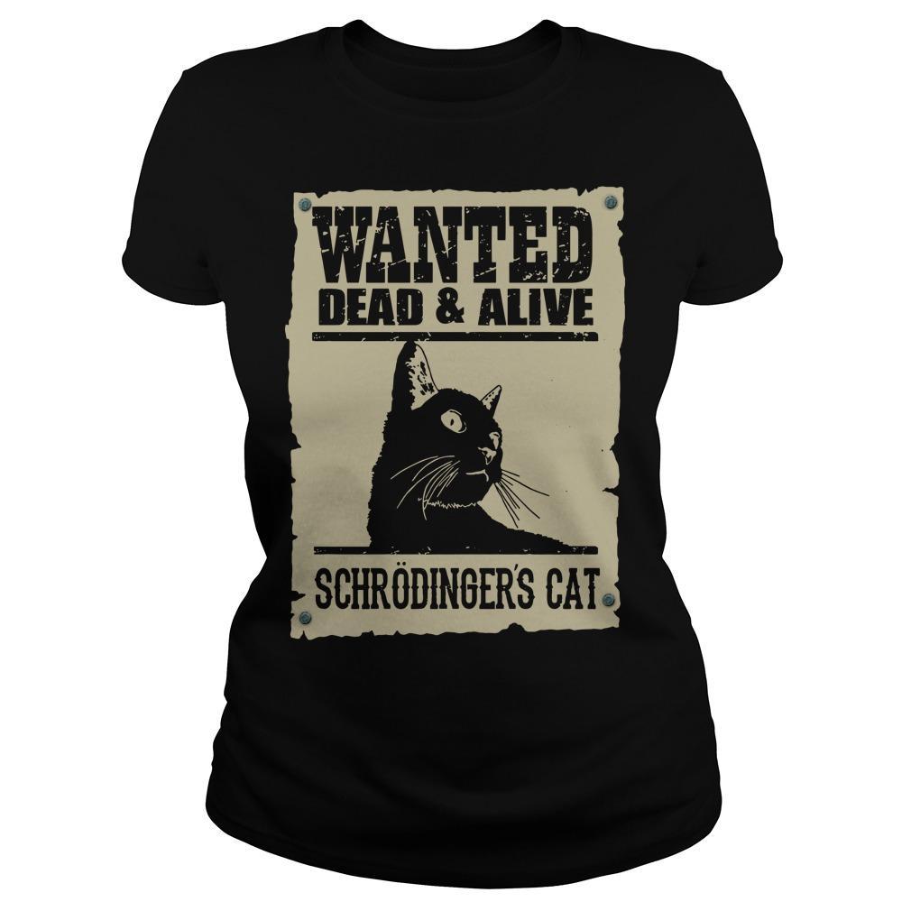 Black Cat Wanted Dead Alive Schrodingers Cat Longsleeve