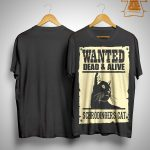 Black Cat Wanted Dead Alive Schrodingers Cat Shirt