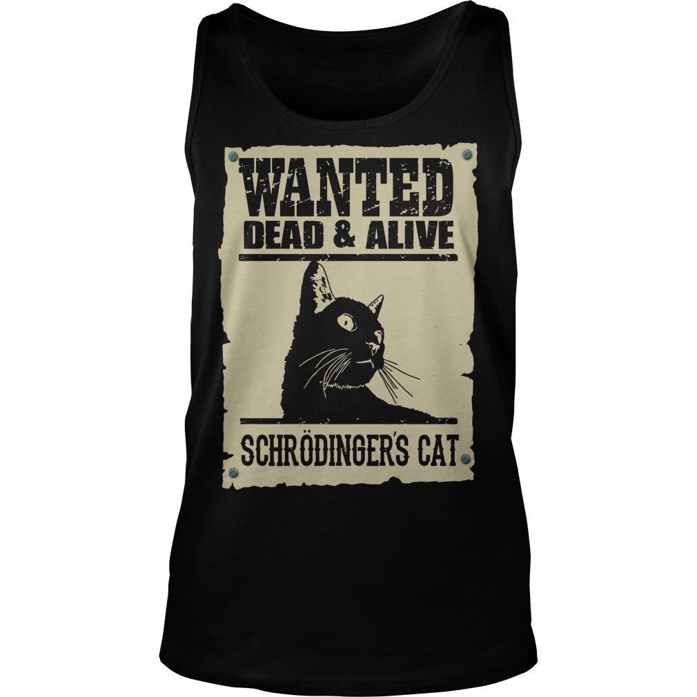 Black Cat Wanted Dead Alive Schrodingers Cat Tank Top